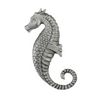 "Acorn MFG - Artisan - 2 1/4"" Seahorse Knob in Antique Pewter"