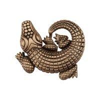 "Acorn MFG - Artisan - 1 1/2"" Alligator Knob in Museum Gold"
