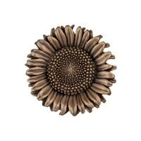 "Acorn MFG - Artisan - 1 3/8"" Sunflower Knob in Museum Gold"