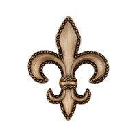 "Acorn MFG - Artisan - 1 5/8"" Fleur De Lis Knob in Museum Gold"