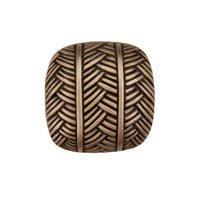 "Acorn MFG - Artisan - 1"" Woven Square Knob in Museum Gold"