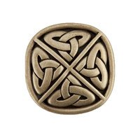 "Acorn MFG - Artisan - 1 1/4"" Celightic Square Knob in Antique Brass"