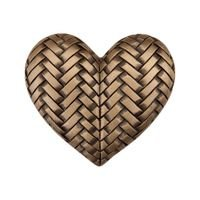 "Acorn MFG - Artisan - 1 3/4"" Woven Heart Knob in Museum Gold"