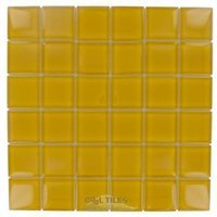 "Diamond Tech Tiles - Dimensions - 2"" x 2"" Yellow Mesh Mounted Tile"