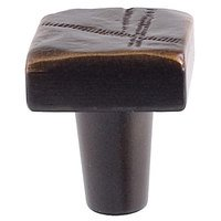 Du Verre Hardware - Die-Cast Aluminum ( Jeff Goodman ) by Jeff Goodman - Large Square Knob in Oil Rubbed Bronze