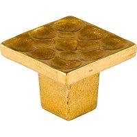 """Du Verre Hardware - Die-Cast Aluminum ( Pomegranate ) by Heinz Pfleger - 1"""" Knob In Satin Brass"""