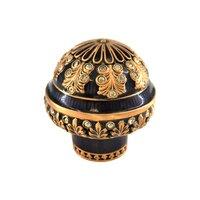 "Edgar Berebi - Wellington - 1 1/4"" Knob Sapphire w/ Swarovski Crystal in Museum Gold"