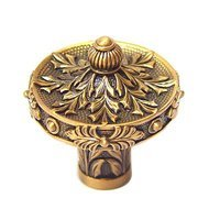 "Edgar Berebi - Nantucket - 1 1/4"" (32mm) Nantucket Knob in Museum Gold"