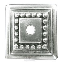 Edgar Berebi - Backplates - Decorative Knob Backplate in Burnish Silver