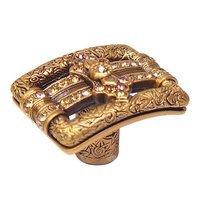 Edgar Berebi - Kingsbury - Knob with Light Smoke and Light Colorado Swarovski Crystal in Museum Gold