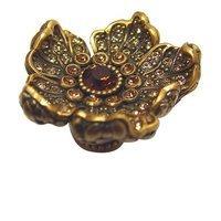 Edgar Berebi - Flora & Fauna - Knob with Light Colorado and Light Smoke Swarovski Crystal in Museum Gold