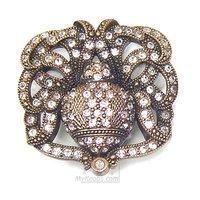 Edgar Berebi - Charlotte - Knob Silk Swarovski Crystal in Museum Gold