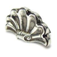 Edgar Berebi - Federal - Shell Knob in Burnish Silver