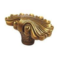 "Edgar Berebi - Federal - 1 1/4"" (32mm) Federal Shell Knob in Museum Gold"