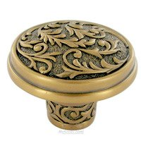 "Edgar Berebi - Glendale - 1 9/16"" Diameter Glendale Knob in Antique Brass"