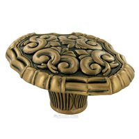 "Edgar Berebi - Belleview - 1 3/4"" Oval Belleview Knob in Antique Brass"