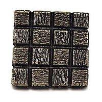 Emenee - Squares - Textured Checkerboard Square Knob in Antique Bright Silver