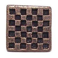 Emenee - Squares - Checkerboard Knob in Antique Bright Silver