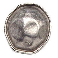 Emenee - Hammered Metal - Rim-Edged Sculpted Circle Knob in Antique Bright Silver