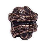 Emenee - Elements - Hammered Knob in Antique Bright Silver