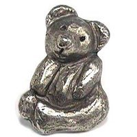 Emenee - Kid Stuff - Teddy Bear Knob in Antique Matte Silver