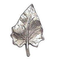 Emenee - Nature - Leaf Shape Knob in Antique Matte Silver