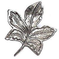 Emenee - Nature - Five Sides Leaf Knob in Antique Matte Silver