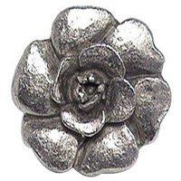 Emenee - Nature - Rose Knob in Antique Matte Silver