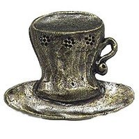 Emenee - Gatherings - Cup Saucer Knob in Antique Matte Silver