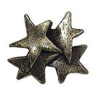 Emenee - Inspiration - Four Star Knob in Antique Matte Silver