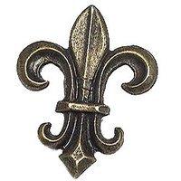 Emenee - Inspiration - Fleur de lis Knob in Antique Matte Silver