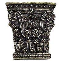 Emenee - Inspiration - Greek Column Knob in Antique Matte Silver
