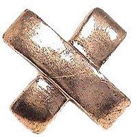 Emenee - Classics - Cross Shaped Knob in Antique Matte Silver