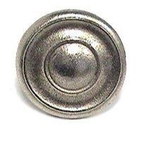 Emenee - Classics - Wide Concave Rim Dome Knob in Antique Matte Silver