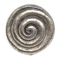 Emenee - Classics - Thick Swirl Knob in Antique Matte Silver
