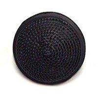 Emenee - Classics - Small Bead Texture Button Dome Knob in Antique Matte Silver