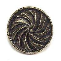 Emenee - Button - Lens Cap Knob in Antique Matte Silver
