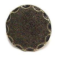 Emenee - Button - Beveled Edge Shape Knob in Antique Matte Silver