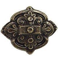 Emenee - Button - Baroque Diamond Knob in Antique Matte Silver