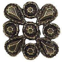 Emenee - Button - Brooch Knob in Antique Matte Silver