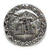 Emenee - Western - Adobe House Knob in Antique Bright Silver