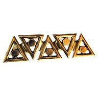 Emenee - Geometry - Triangle Pull in Antique Bright Silver
