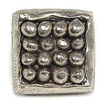 Emenee - Expression - Organic Square Knob in Antique Matte Silver
