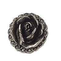 Emenee - Bloom - Rose Knob in Antique Bright Silver