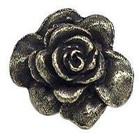 Emenee - Bloom - Rose Knob in Antique Bright Silver