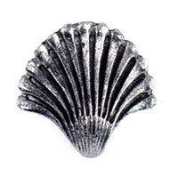 Emenee - Nautical - Seashell Fan Knob in Antique Bright Silver