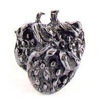 Emenee - Bounty - Strawberries Knob in Antique Bright Silver