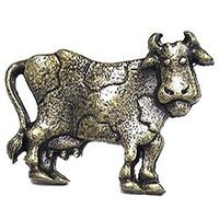 Emenee - Storybook - Cow Facing Right Knob in Antique Bright Silver