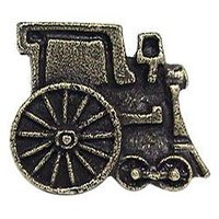 Emenee - Storybook - Train Knob in Antique Bright Silver