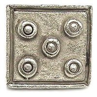Emenee - Expression - Five Dot Square Knob in Antique Matte Silver